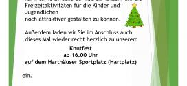 Einladung Tannenbaumsammlung und Knutfest